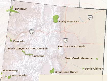 Sand Dunes Colorado Map.Colorado
