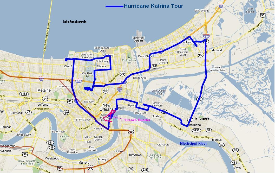 Hurricane Katrina New Orleans Map.Gulf Coast New Orleans