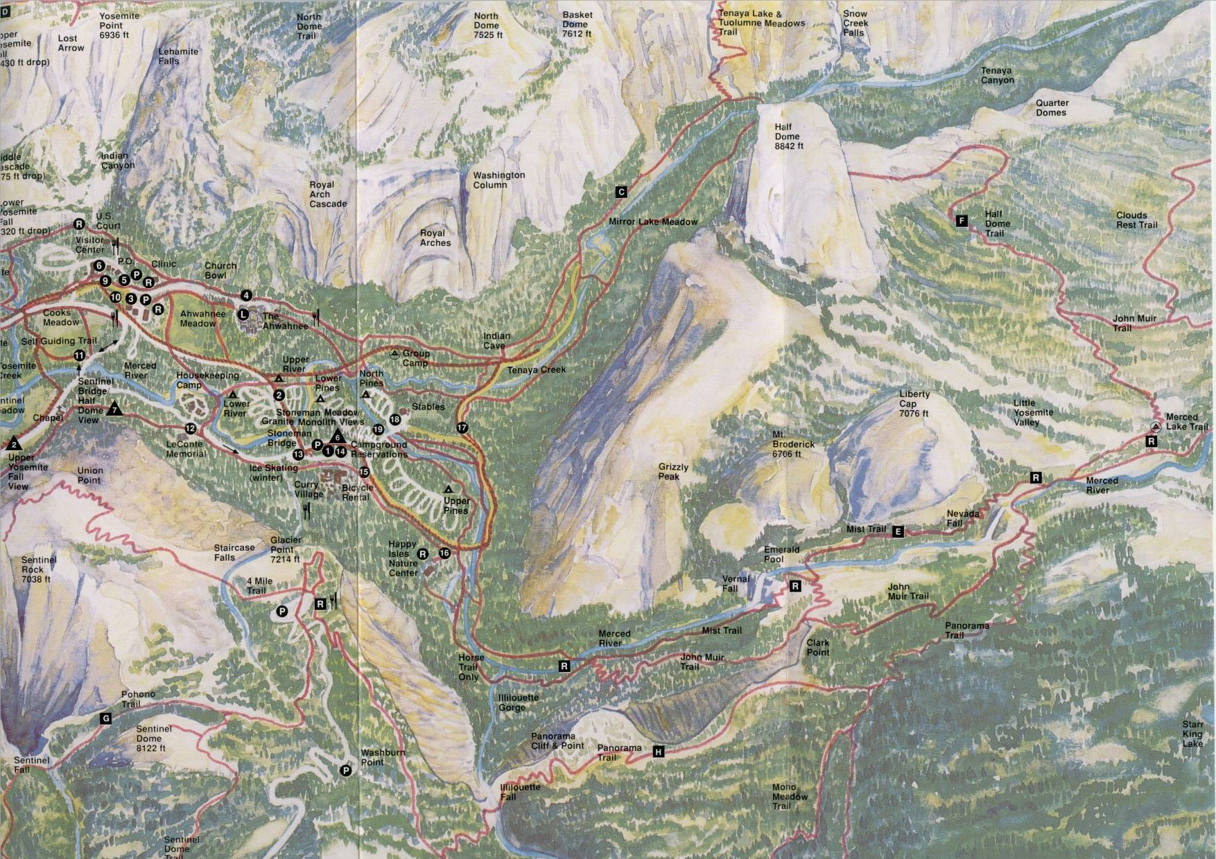 yosemite half dome trail map with Halfdome on ShowTopic G294217 I1496 K4606726 Maps of outlying islands to help in exploring hiking Hong Kong besides Hiking Half Dome Conquered moreover Upper Yosemite Falls furthermore 4924826215 in addition YosemiteMistTrail.