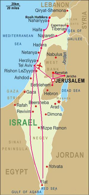 Israel And Jordan - Map of egypt israel jordan