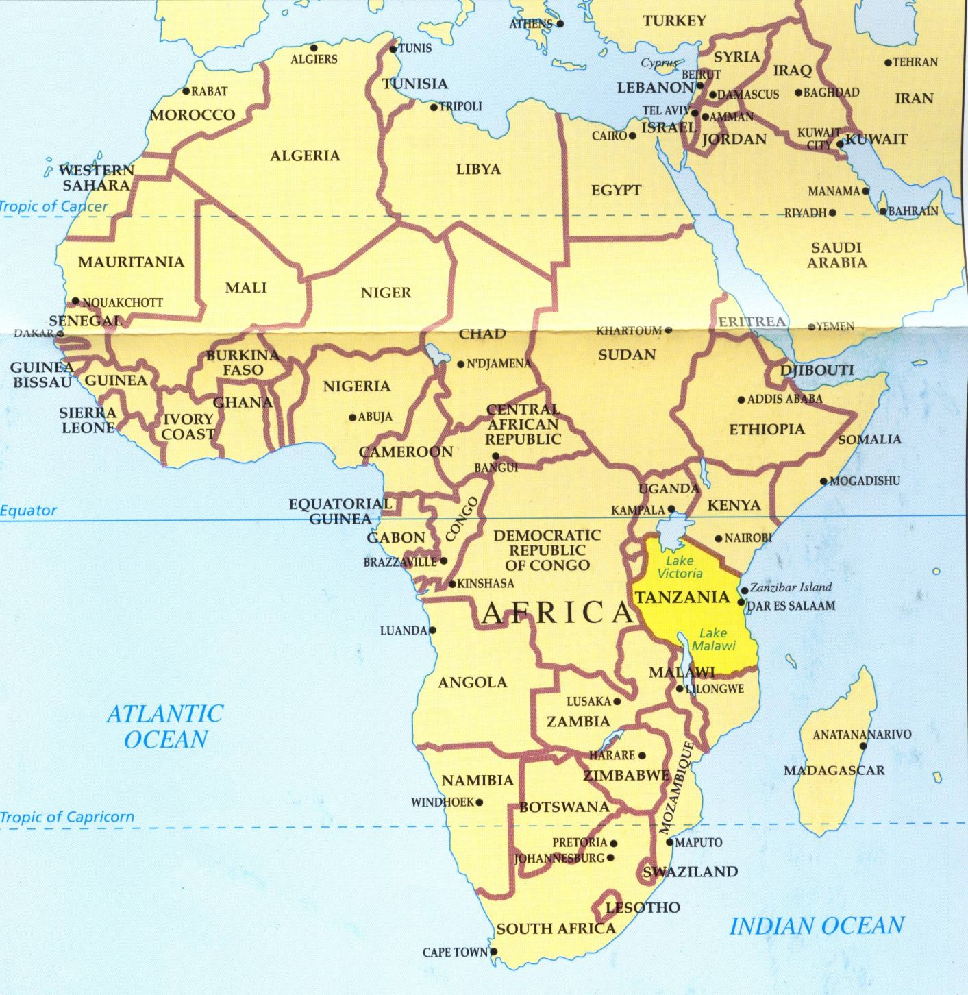 Mt Kilimanjaro Map Africa | Map Of Africa