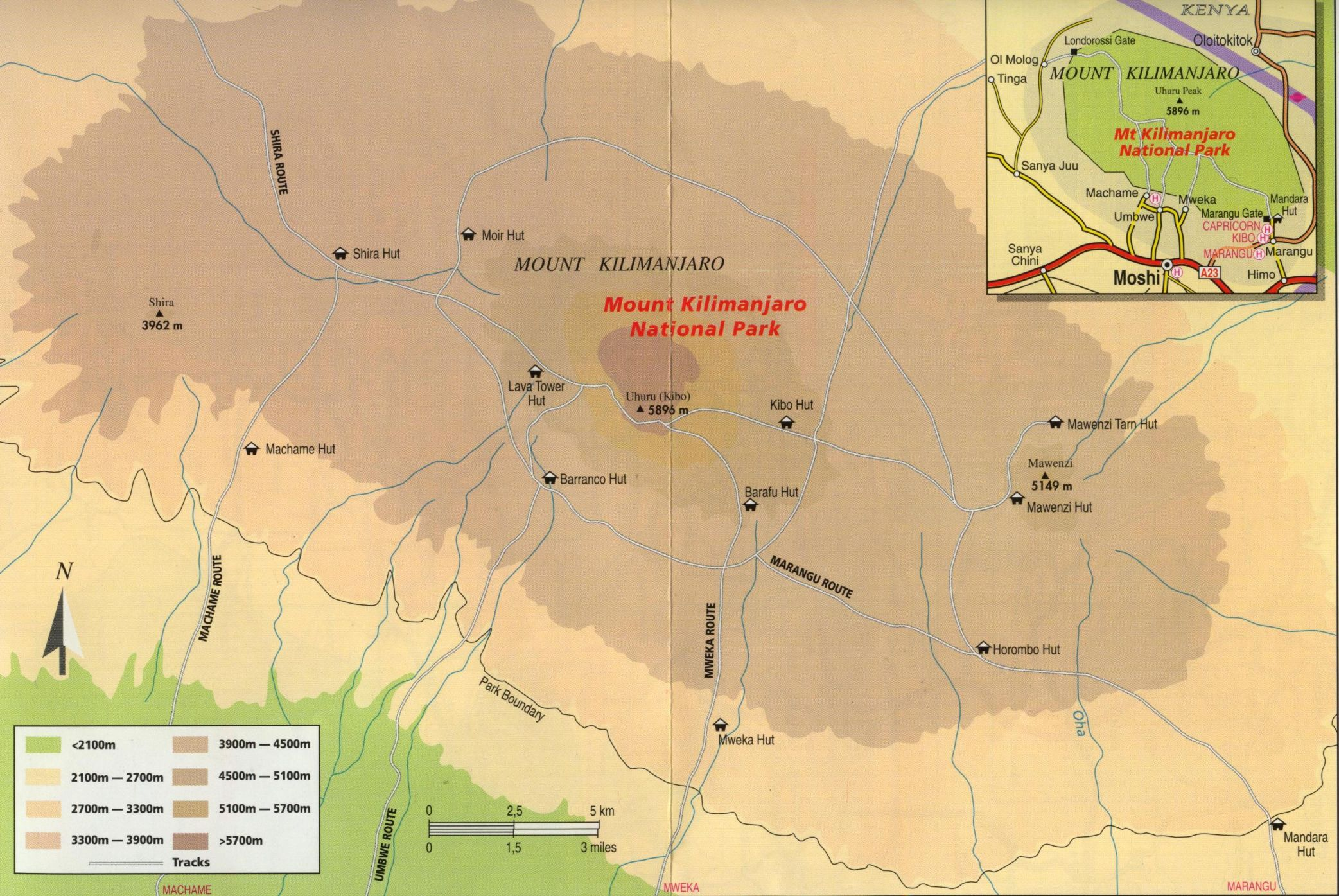 the routes to the summit. climbing mount kilimanjaro  overview